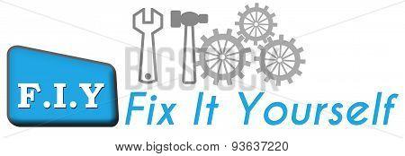 FIY - Fix It Yourself Blue Triangle