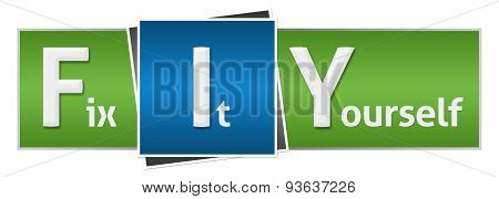 FIY - Fix It Yourself Blue Green Horizontal