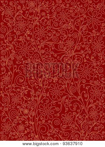 Red Ornate Pattern.