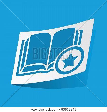Favorite book sticker