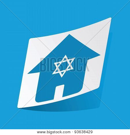 Jewish house sticker