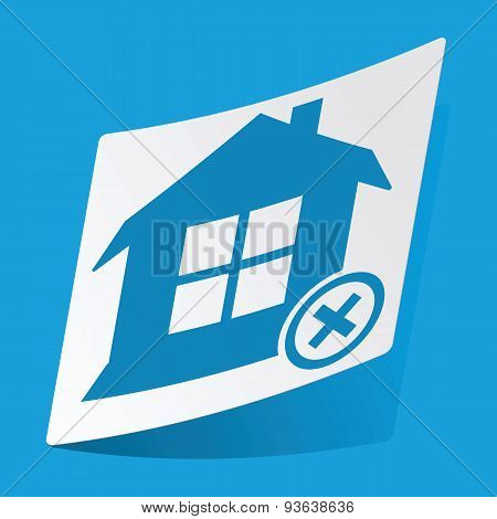 Remove house sticker