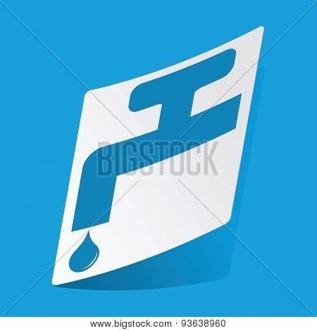 Tap sticker