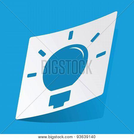 Light bulb sticker