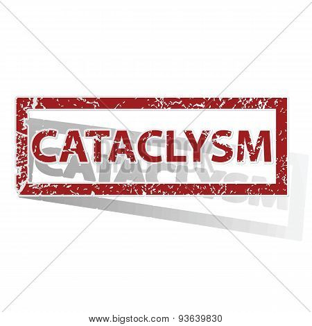 CATACLYSM outlined stamp