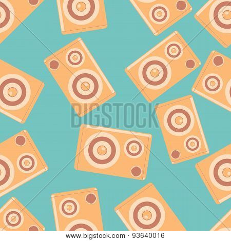 Speakers Vector Seamless Pattern