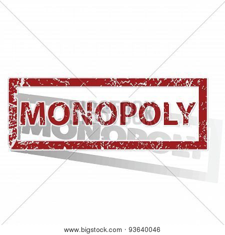 MONOPOLY outlined stamp
