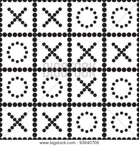 A Seamless Pattern Tic Tac Toe