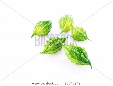 Bitter Gourd Isolated On White Background