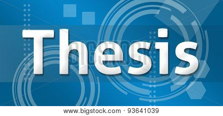 Thesis Technical Background