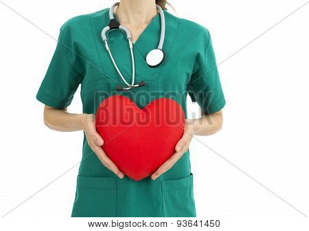 Cardiologist Showing Heart