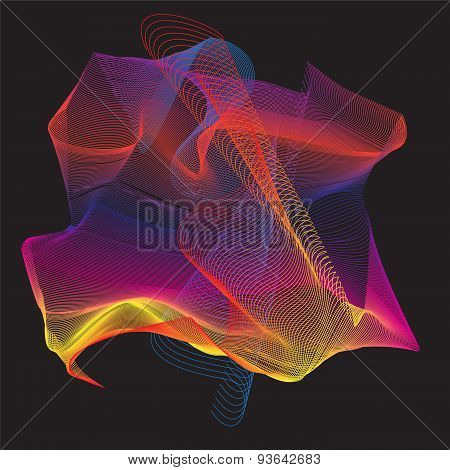 Colorful Curve Abstract