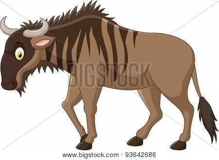 Cartoon Strong animals wildebeest