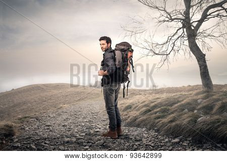 A man with Backpacker