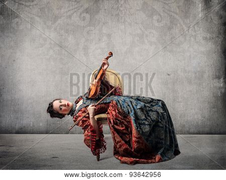 Weird violin player