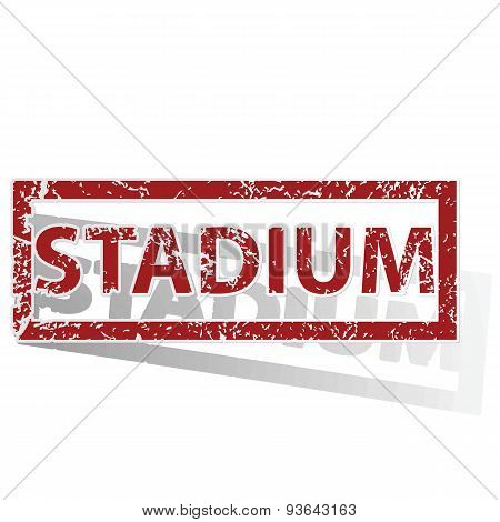 STADIUM outlined stamp