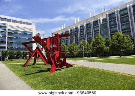 Red Sculpture,  Boston