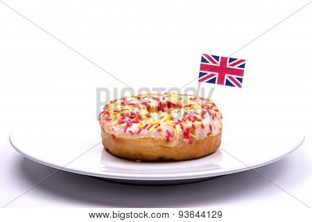 Donut and British Flag