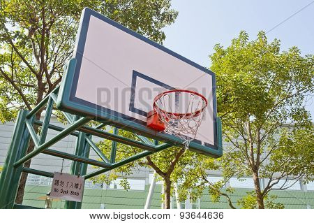 Basketball Board On The Blue Sky