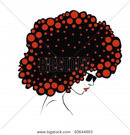 abstract  Color round hair - Illustration
