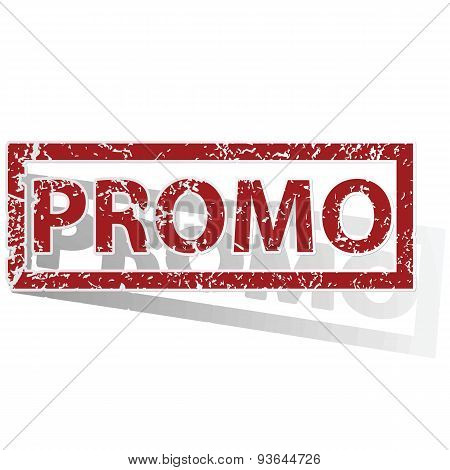 PROMO outlined stamp