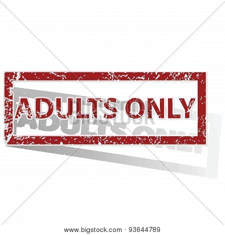 ADULTS ONLY outlined stamp