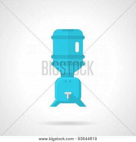 Cooler for potable water flat vector icon