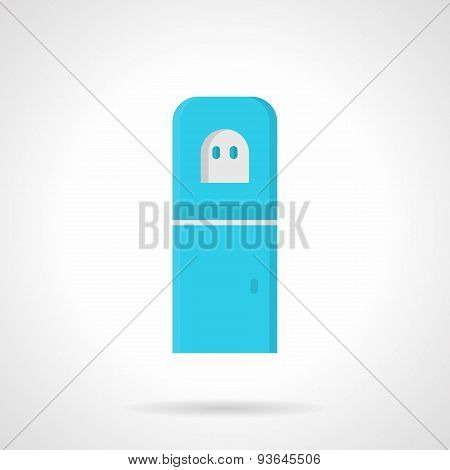 Blue water purifier flat vector icon