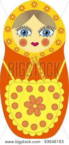 Matryoshka in a yellow apron