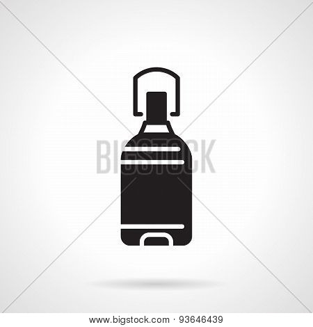 Black vector icon for water bottle