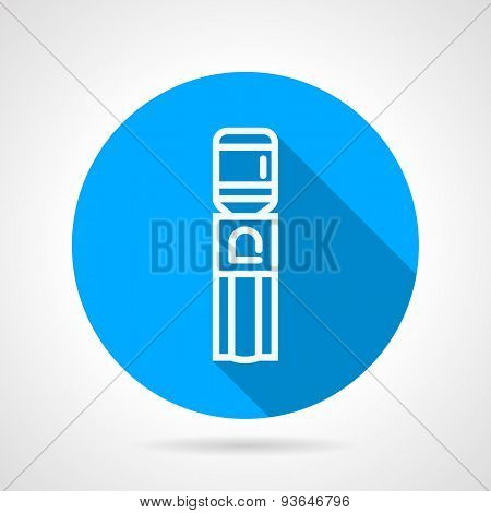 Water cooler blue round vector icon