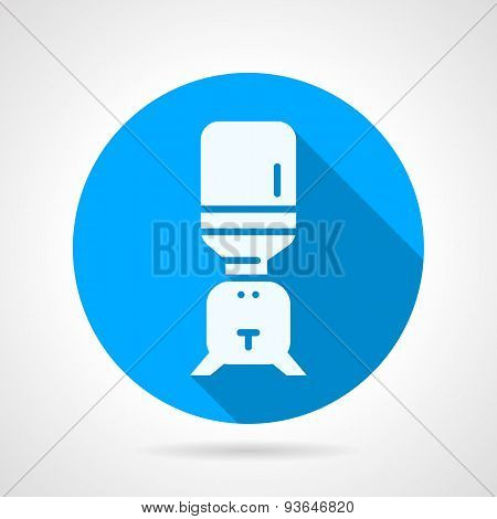 Purifier water blue round vector icon