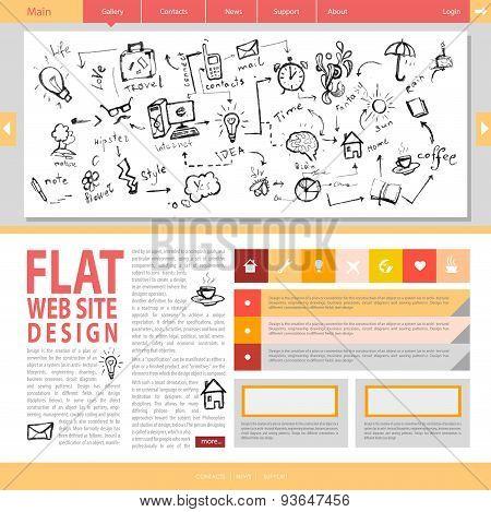 Flat Web Site Design.