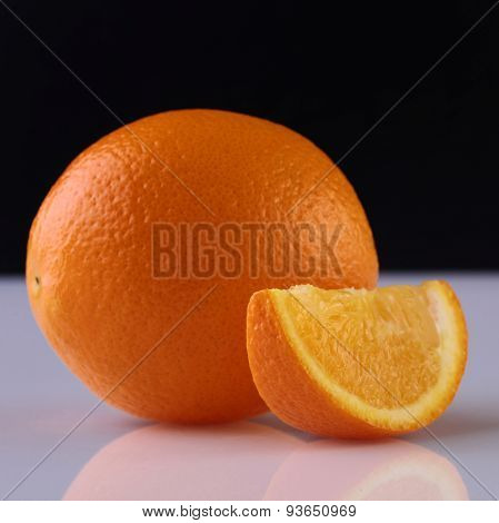 Orange On Black Background