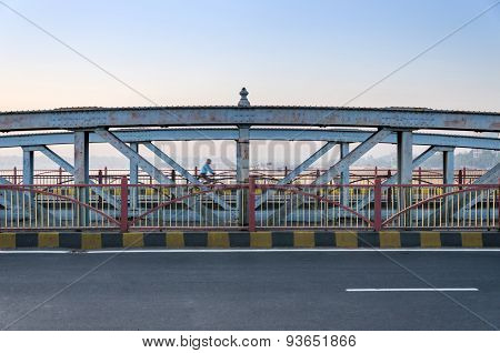 Ahmedabad, India - December 27, 2014: Ellis Bridge In Ahmedabad