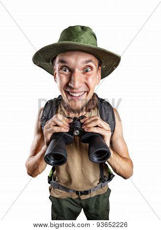 Happy Man With Binocular