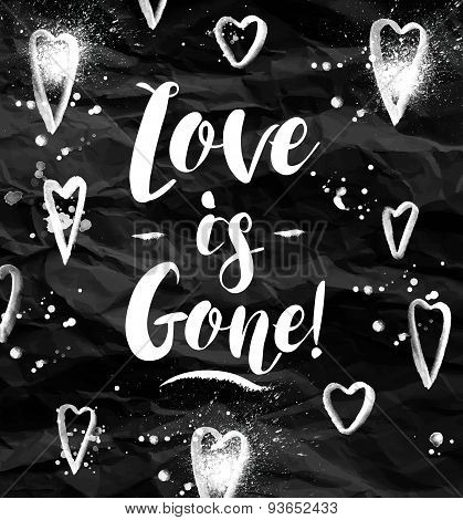 Angry Love is gone greeting card