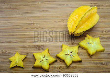 Carambola Fruit Or Star Fruit (averrhoa Carambola)