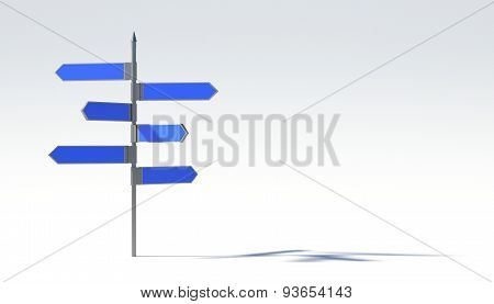 Metal Pillar With Signposts Directions