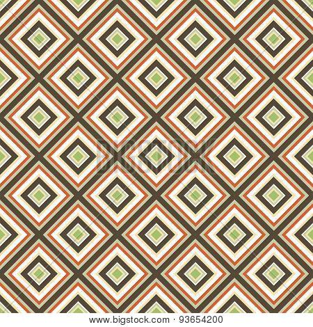 seamless retro ornament squares