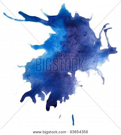 Beautiful traced vector watercolor splatter.