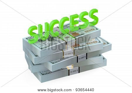 Success Concept With Dollars