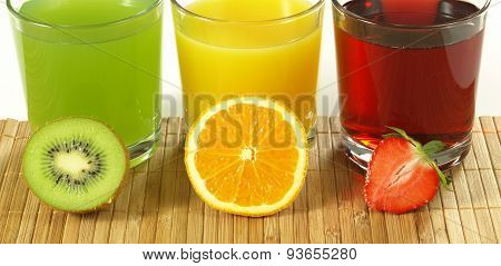 Fresh Colorful Fruit Drinks