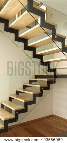 Designed Wooden Stairs