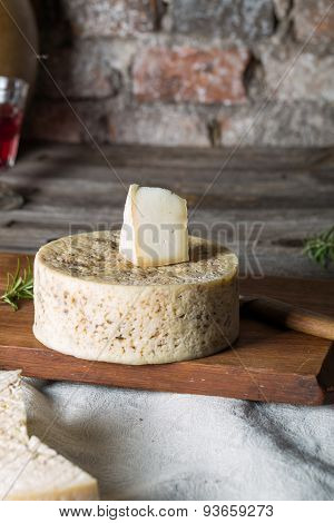 French goat cheese with mystic light effect