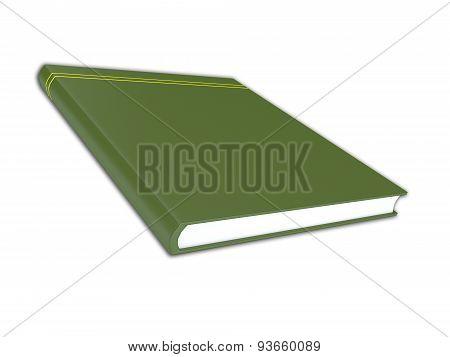 3D Render Illustration Of Generic Green Book