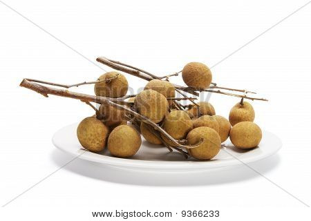 Plate Of Fresh Longans