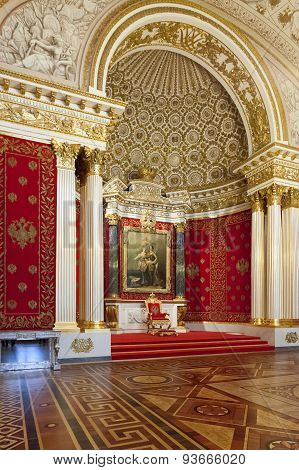 Small Throne Hall Of The Winter Palace (hermitage), St.petersburg