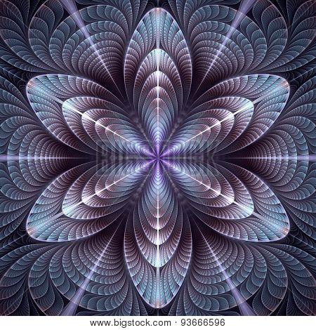 Blue-violet Mosaic Flower