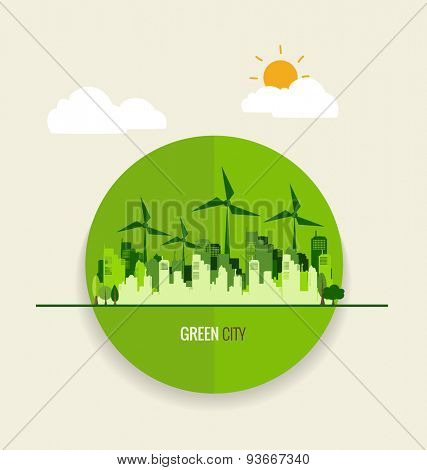 Environmentally friendly world. Ecology concept. Vector illustration.